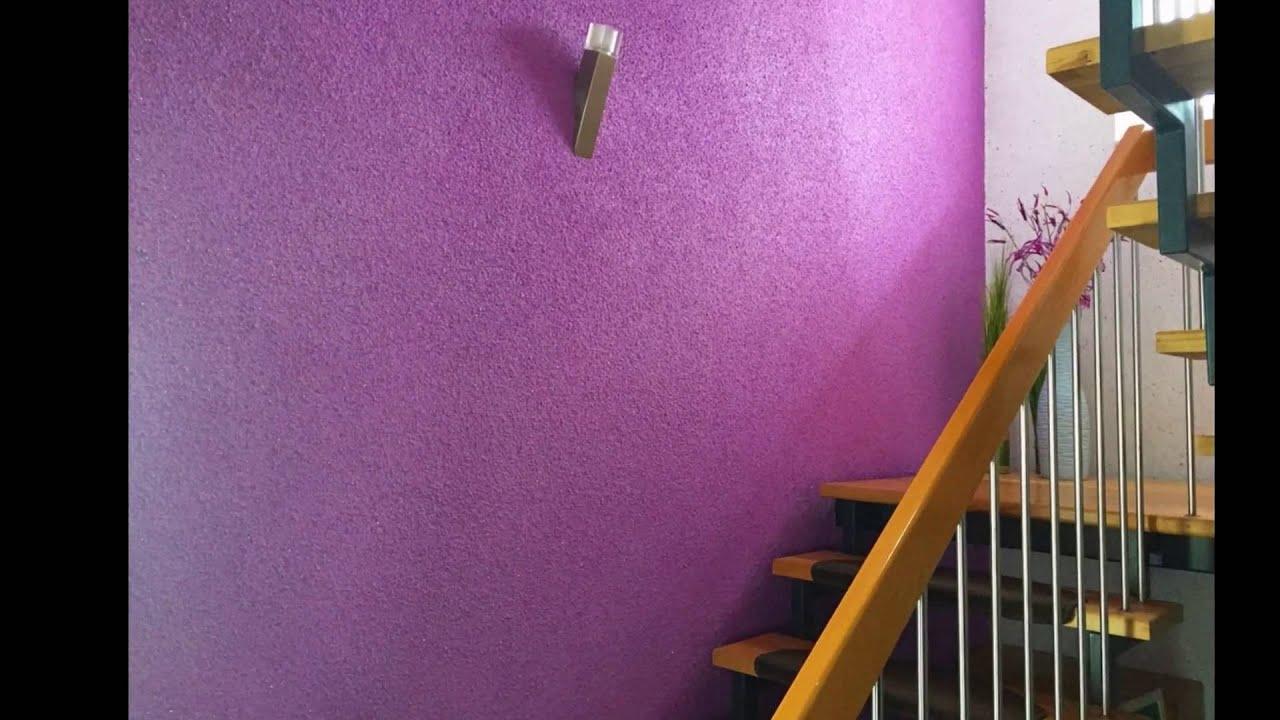 Flussigtapete24 Treppenhaus In Flussigtapete Violett Brombeer