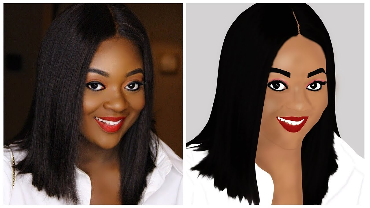 Celebrities Cartoon Series, Digital Painting of JACKIE APPIAH (Speed Art, Not a Tutorial) |