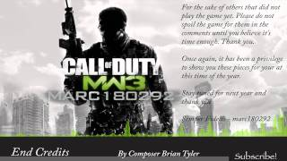 MW3 Soundtrack: MW3 End Credits