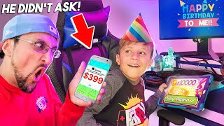BIRTHDAY BOY spends $$$ In-App Purchase without ASKING! (FV Family Chase Bday Vlog)