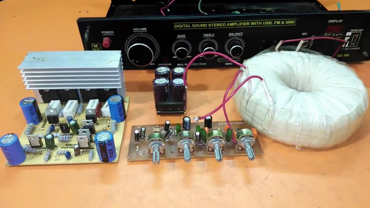 How To Make An Amplifier 200 Watts Using 2sc5200 And 2sa1943 Youtube Power Circuit Diagram Howtomakeamplifier Amplifiercircuit