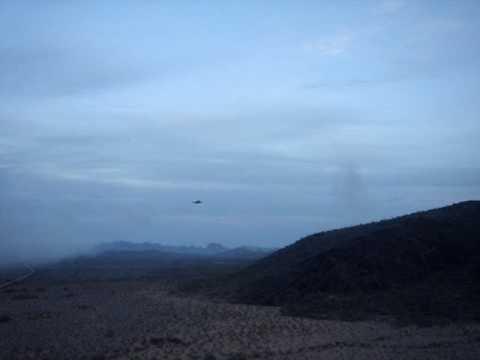 2x F16 fly by on range @ Gila Bend Arizona