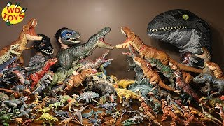WORLD'S LARGEST JURASSIC WORLD COLLECTION!! Fallen Kingdom Dinosaur Toys Mattel WD Toys T-Rex Vs