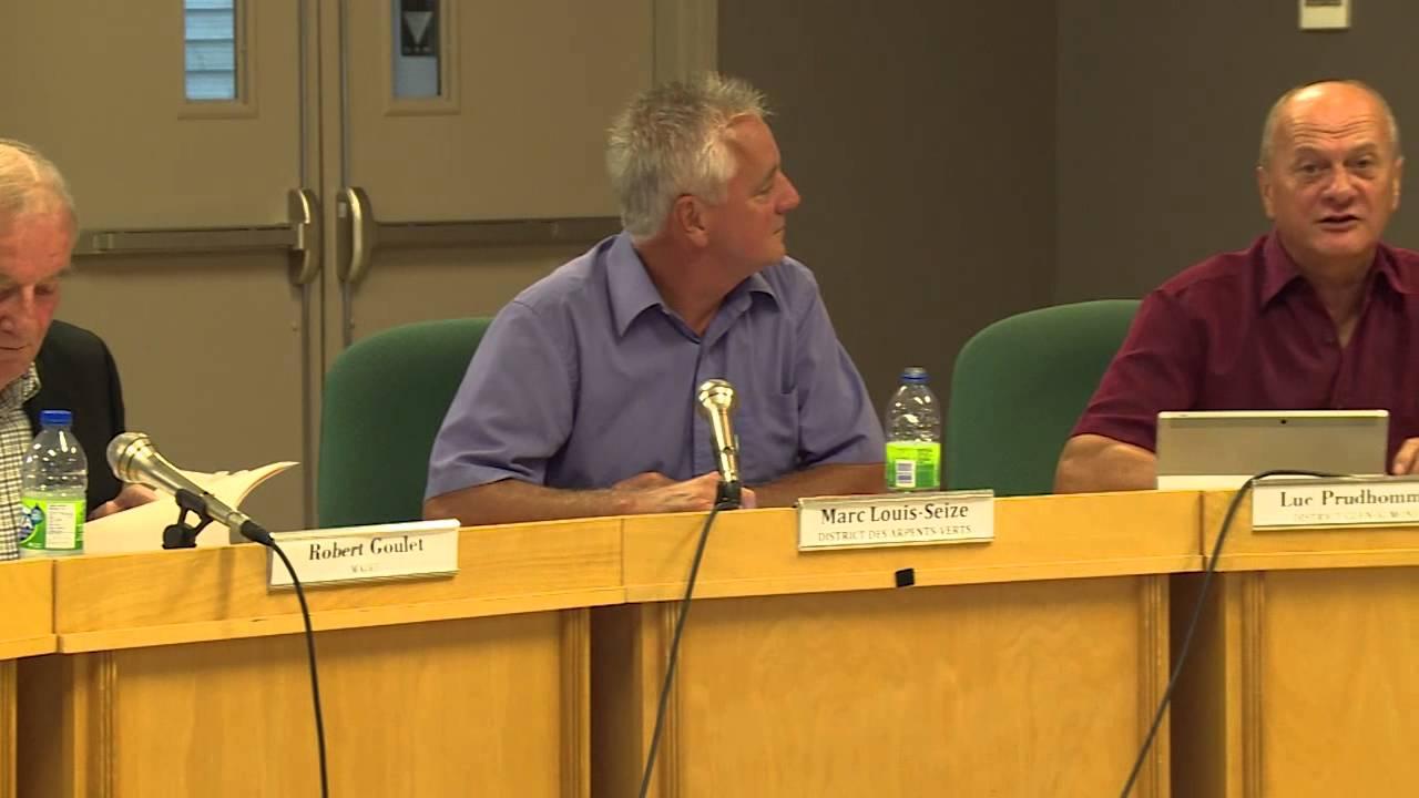 Conseil municipal de L'Ange-Gardien - Août 2015
