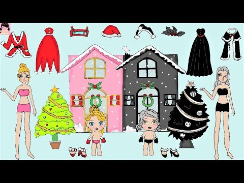 FAMILY DRESS UP PAPER DOLLS COSTUMES DRESSES FOR CHRISTMAS ACCESSORIES PAPER CRAFTS