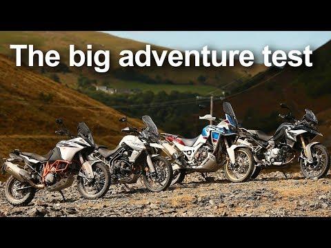 4 x 'Middleweight' Adventure Bikes on and off road (KTM vs Honda vs Triumph vs BMW) | BikeSocial