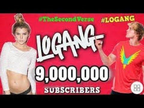 LOGAN PAUL VLOGS super close to 9 M ( live subs count)