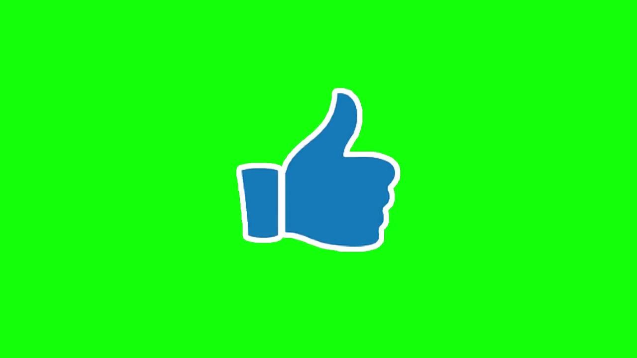 pouce bleu fond vert youtube