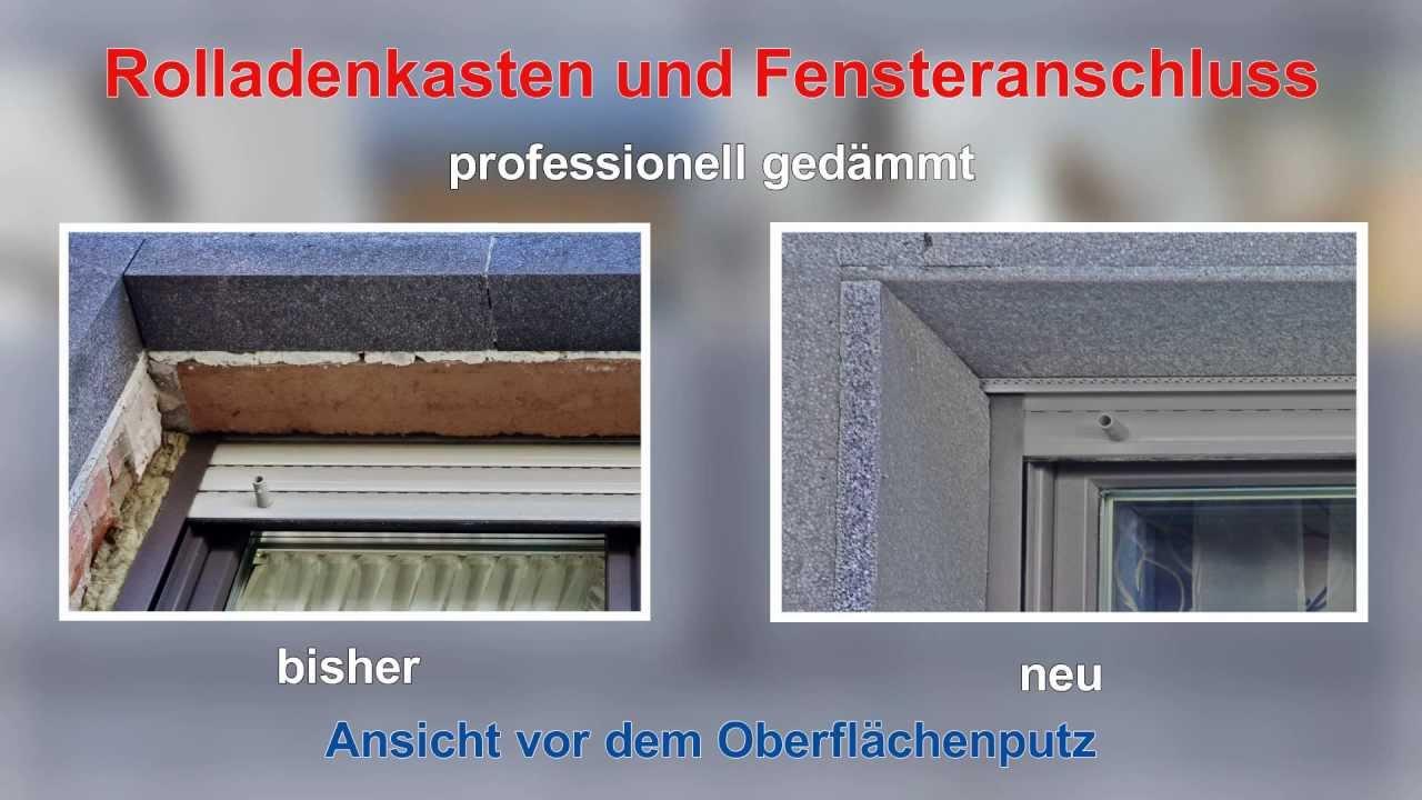 Fenstersturz rolladenkasten probleme im wdvs youtube - Fensterrahmen einputzen ...