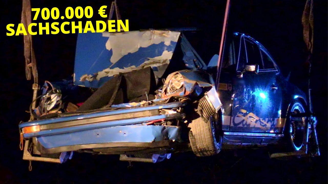 [3 SCHWERVERLETZTE NACH UNFALL AUF DER A59] - Wertvoller Porsche verunfallt   700.000 € Schaden -