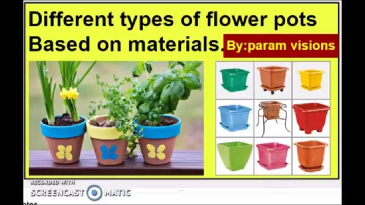 Different types of flower pots based on materials/Varieties of flower pots/ Types of garden pots  sc 1 st  YouTube : different types of flower pots - startupinsights.org