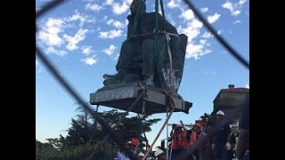 Watch the historic moment Rhodes statue fell at UCT