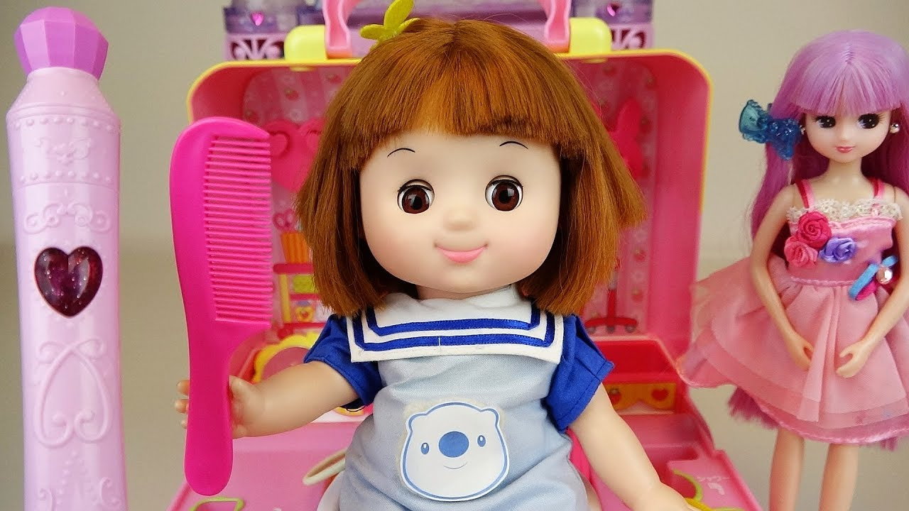 baby doll color pen hair toy