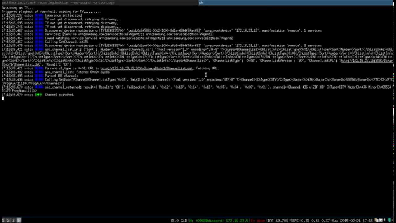 switching TV channels w/ i3, dmenu, python-coherence and castnow