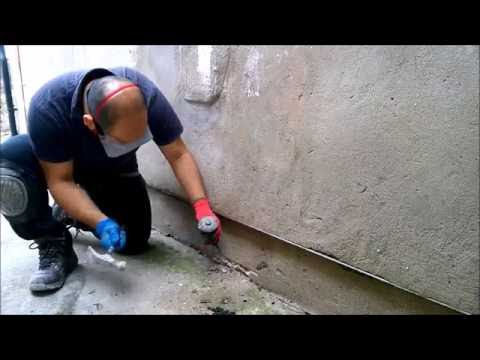 How to stop rising damp along the base of the house   repairing cracks & tip on hacking off tough re
