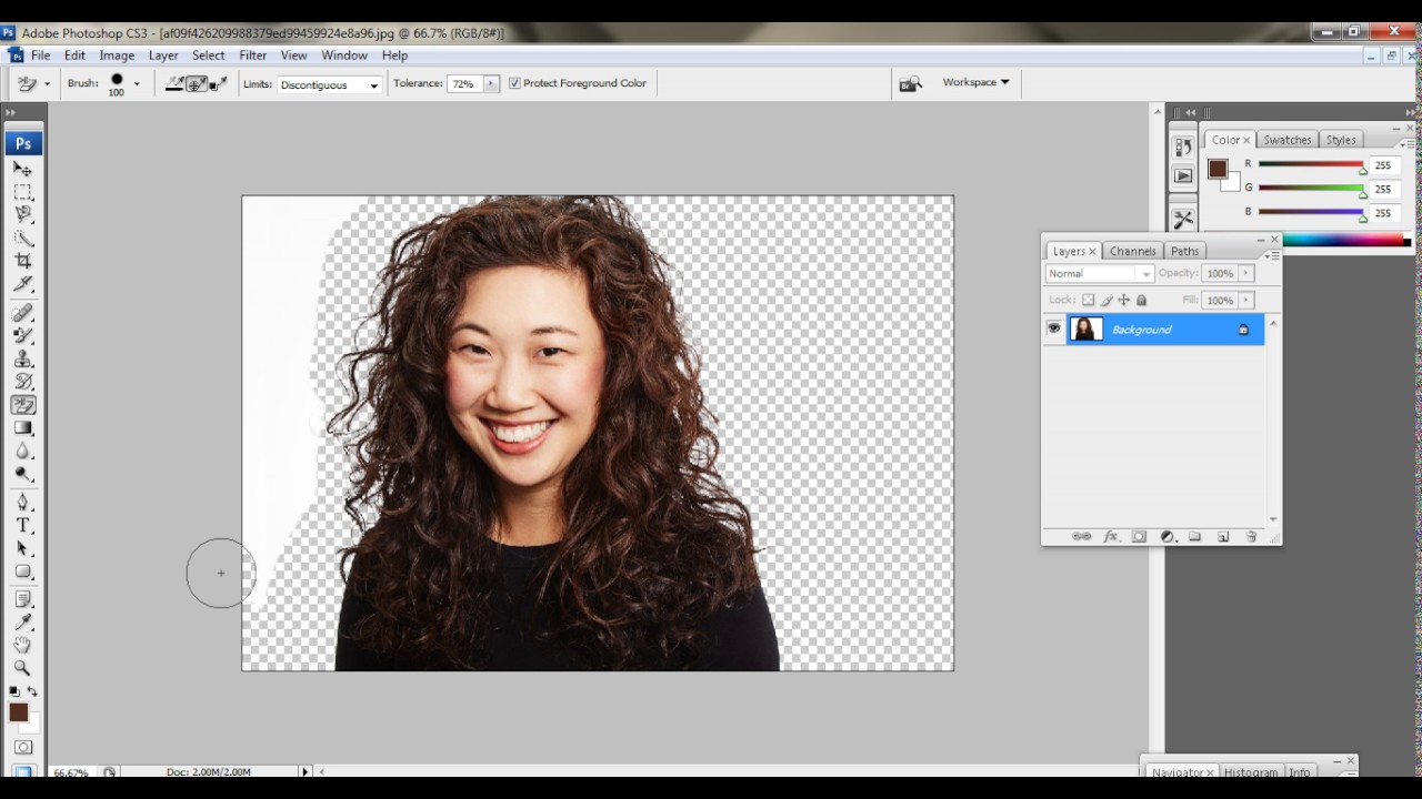 Hair cuting in Photoshop CS11 (HIndi) - YouTube