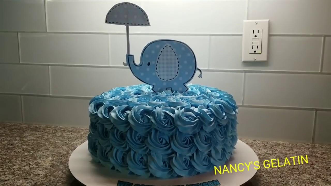 Pastel Baby Shower Decoración Tema Elefante