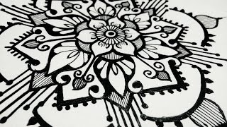 How to Draw Mandala Designs- Beautiful Henna tattoo Designs