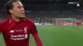 Van Dijk crying after win the Champions League 2019 Tottenham 0 2 Liverpool