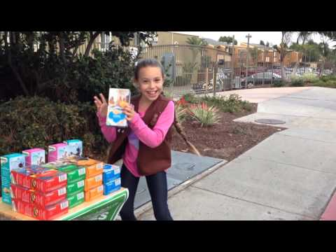 Peyton's Girl Scout Cookie Dance!