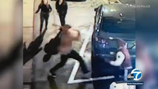 Bat-wielding assailant brutally attacks man in Van Nuys parking lot I ABC7