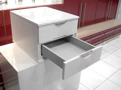 Rugby Touch Open Soft Close Drawer.  No battery or electricity required!