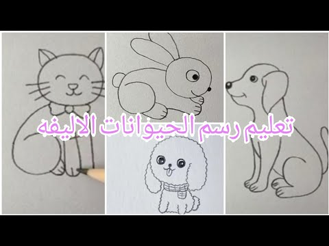 تعليم رسم الحيوانات الاليفة للأطفال بطريقه سهله جدا Youtube