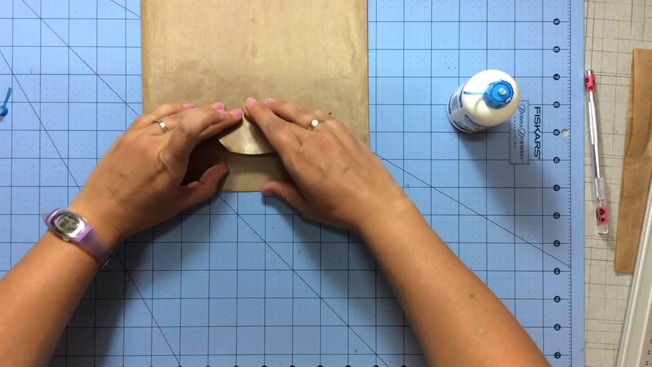 Tutorial como hacer una bolsa de papel kraft youtube - Hacer bolsas de papel en casa ...