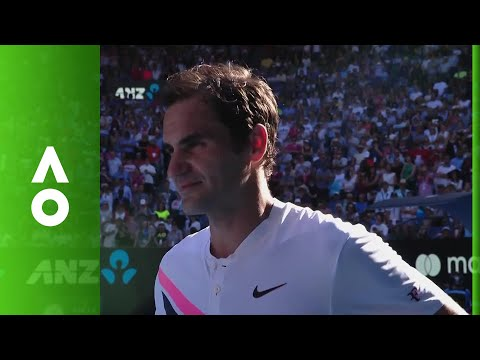 Roger Federer on court interview (4R) | Australian Open 2018
