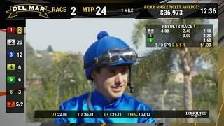 Coliseum Wins Race 1 at Del Mar 11/17/18