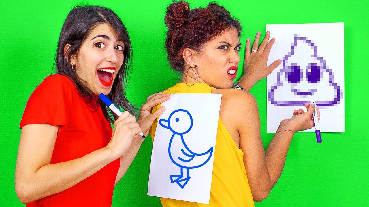 Download IDEAS DE FIESTA PARA UNA NOCHE DE JUEGOS ll ¡Desafío de dibujar en la espalda! Por 123 GO! CHALLENGE