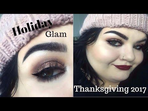 Thanksgiving Glam Makeup Tutorial 2017| Casey Black