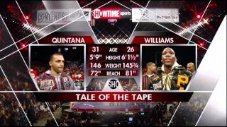 WBO welterweight title Paul Williams vs Carlos Quintana II 1/2