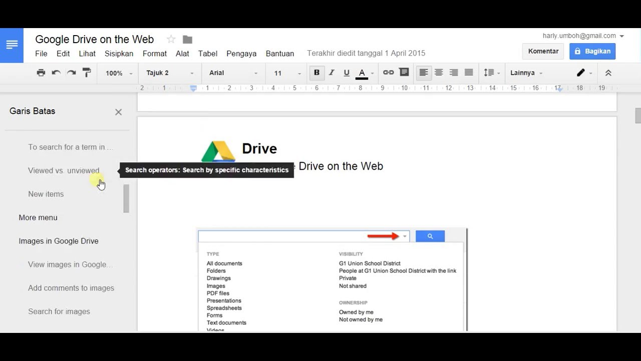 How to activate outline tool at google docs youtube for Outline template google docs