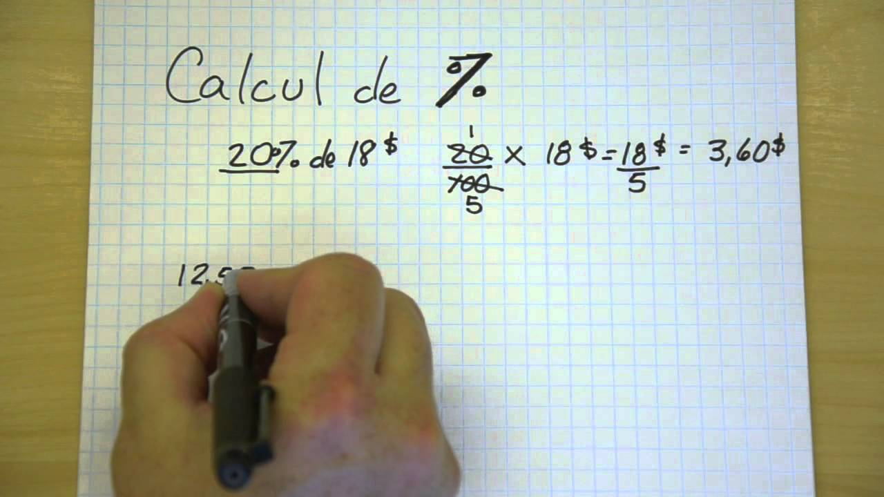 Calcul de pourcentage youtube for Calcul de pourcentage de pente