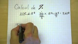 Calcul de pourcentage