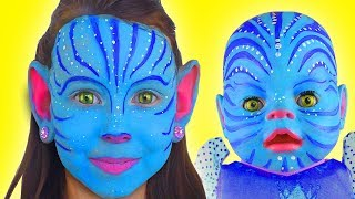 Kids Makeup Princess Avatar with Colours Paint Alisa Pretend Playing with Baby doll and Toys For Kid