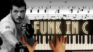 Funky in C │ Blues Piano Lesson #9