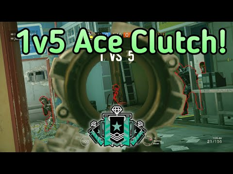 Brutal 1v5 Ace Clutch! :Xbox Diamond - Ranked Highlights - Rainbow Six Siege Gameplay