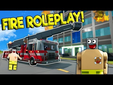 LEGO FIRE FIGHTER JOB IN LEGO CITY! - Brick Rigs Roleplay Gameplay - Lego City Fire Truck Simulator