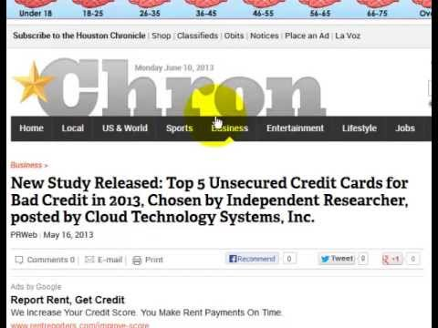 Houston Chronicle Press Release Posted: Top 5 Unsecured Credit Cards for Bad Credit