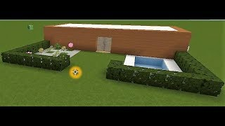 Minecraft - How to make a (18X9) Modern House - Easy -Must See