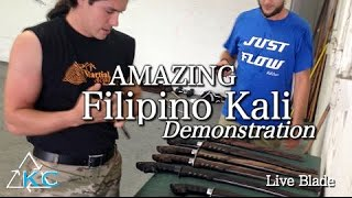 AMAZING FILIPINO KALI DEMO With TOP Prado Blades - Martial Arts