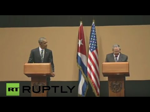 LIVE : Barack Obama visit in Cuba: joint statement with Cuban President Raúl Castro