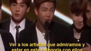 BTS (방탄 소년단) ganador 2017 Billboard (subespañol)
