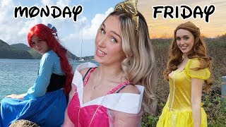 i dressed up as disney princesses for a week *embarrassing*