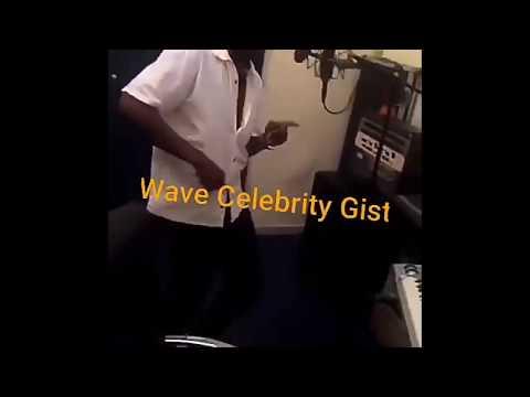 Orezi making a dance video to his COOKING POT single in a studio