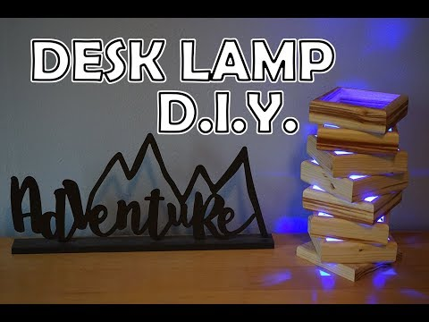 How To Build A DIY Wood Desk Lamp