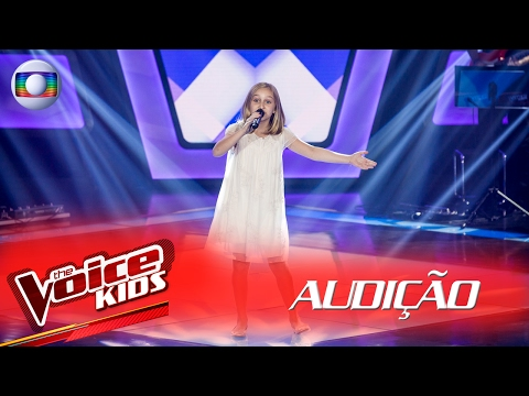 Luiza Gattai canta 'Felicidade' na Audição –  The Voice Kids Brasil | 2ª Temporada