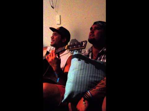 Dru and Dallas jammin post Homegrown 2014 Wellington